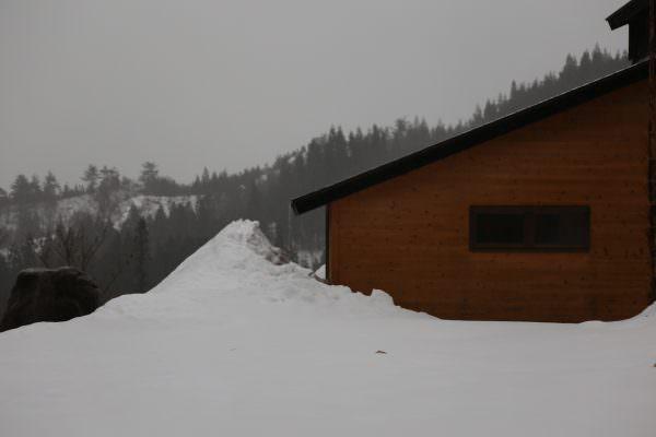 里山十条の室内からの外の景色